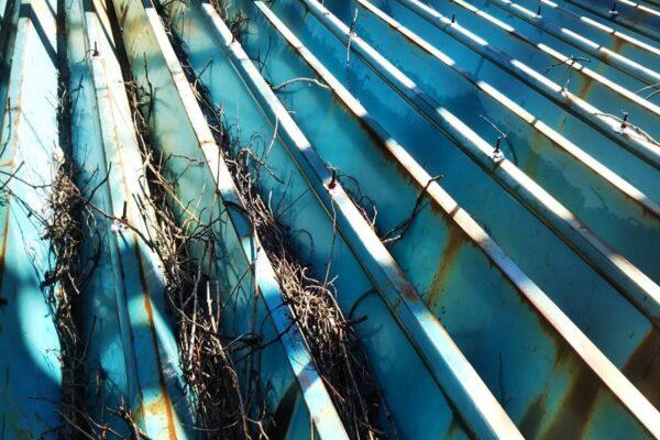 山梨県北杜市 G様 折半屋根塗装 雨樋防水