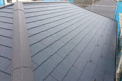 山梨県中央市 瓦屋根からスレート屋根に屋根葺き替え工事 ケイミューコロニアルクアッド