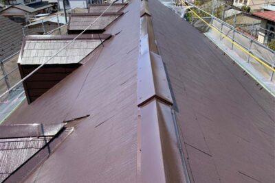 山梨県富士吉田市 アパート屋根工事 カバー工法