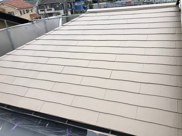 山梨県上野原市 屋根葺き替え工事 屋根塗装 スレート屋根