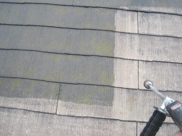 山梨県都留市 屋根塗装 高圧洗浄 ケレン作業 タスペーサー