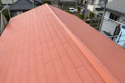 山梨県山梨市 屋根塗装 棟板金工事 ファインパーフェクトトップ