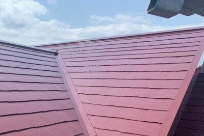 山梨県甲府市 屋根塗装 スレート差し替え 付帯部塗装 ファインパーフェクトトップ