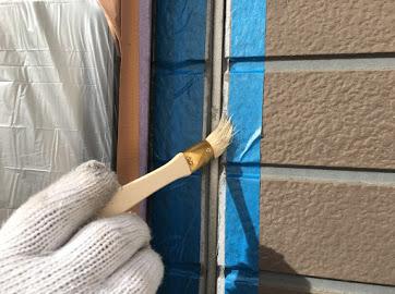 山梨県笛吹市にて外壁塗装用の防水工事!