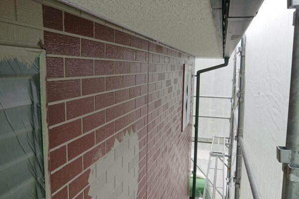 山梨県中巨摩郡にて外壁塗装工事!