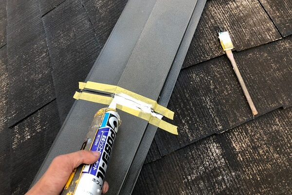 山梨県南巨摩郡 屋根塗装 屋根板金工事 シーリング補修 3度塗り