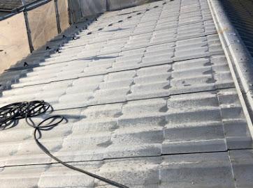 山梨県笛吹市にて屋根塗装用の洗浄作業!