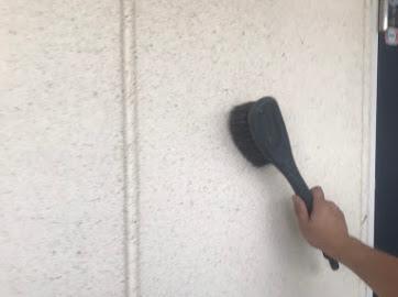 山梨県笛吹市にて外壁塗装用の洗浄作業!