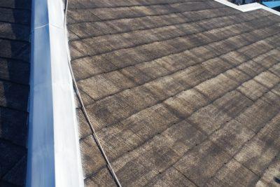 山梨県山梨市 台風 屋根修理 棟板金工事 スクリュービス