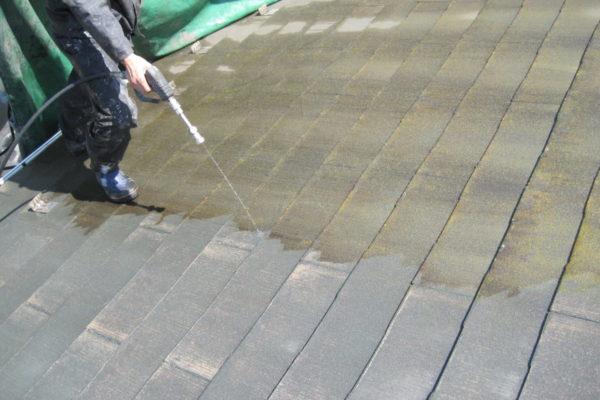 山梨県笛吹市 屋根塗装 下地処理 高圧洗浄 長持ち塗装