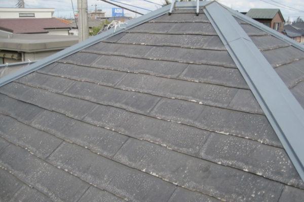 山梨県甲府市 屋根塗装 棟板金 塗装